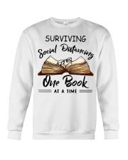 Surviving social distancing one book at a time  Crewneck Sweatshirt thumbnail