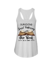 Surviving social distancing one book at a time  Ladies Flowy Tank thumbnail