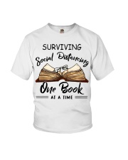 Surviving social distancing one book at a time  Youth T-Shirt thumbnail