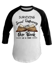 Surviving social distancing one book at a time  Baseball Tee thumbnail