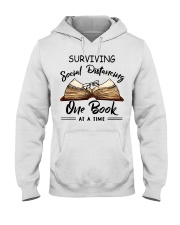 Surviving social distancing one book at a time  Hooded Sweatshirt thumbnail