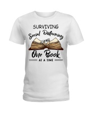Surviving social distancing one book at a time  Ladies T-Shirt thumbnail
