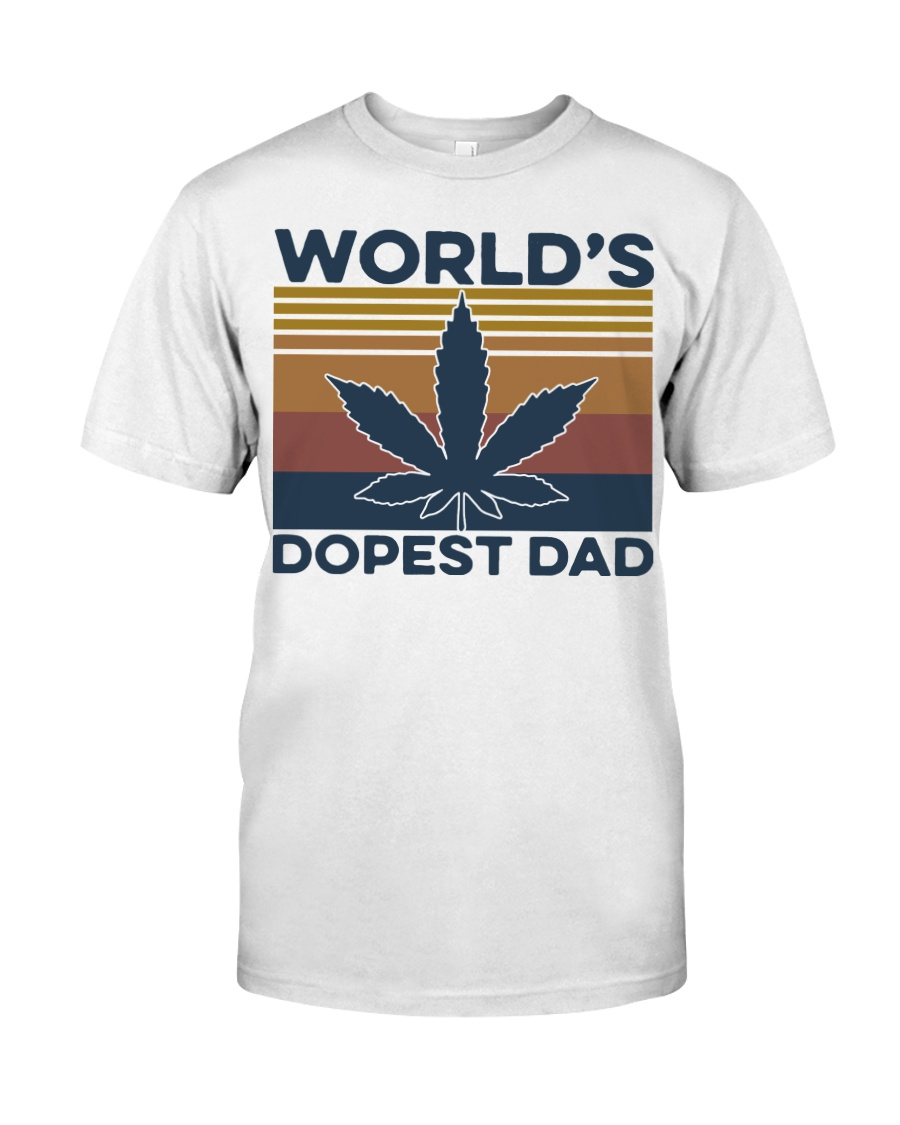 World's Dopest Dad Weed Vintage shirt Classic T-Shirt
