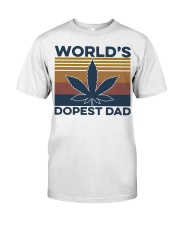 World's Dopest Dad Weed Vintage shirt Classic T-Shirt front