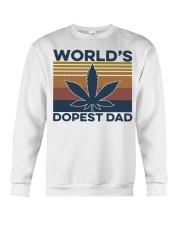 World's Dopest Dad Weed Vintage shirt Crewneck Sweatshirt thumbnail