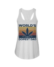 World's Dopest Dad Weed Vintage shirt Ladies Flowy Tank thumbnail
