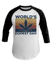 World's Dopest Dad Weed Vintage shirt Baseball Tee thumbnail