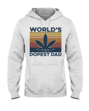 World's Dopest Dad Weed Vintage shirt Hooded Sweatshirt thumbnail