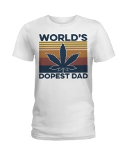 World's Dopest Dad Weed Vintage shirt Ladies T-Shirt thumbnail