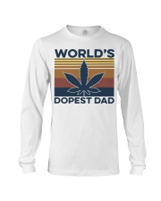 World's Dopest Dad Weed Vintage shirt Long Sleeve Tee thumbnail