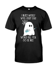 Boo I inject myself Diabetes Halloween Classic T-Shirt front