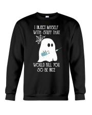 Boo I inject myself Diabetes Halloween Crewneck Sweatshirt thumbnail