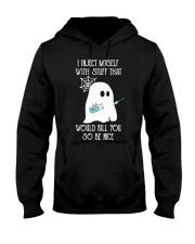 Boo I inject myself Diabetes Halloween Hooded Sweatshirt thumbnail