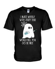 Boo I inject myself Diabetes Halloween V-Neck T-Shirt thumbnail