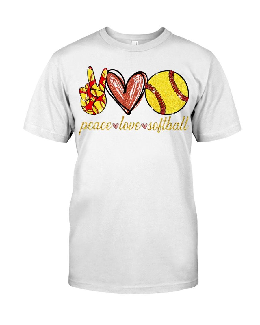 Peace love Softball shirt Classic T-Shirt
