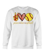 Peace love Softball shirt Crewneck Sweatshirt thumbnail