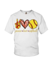 Peace love Softball shirt Youth T-Shirt thumbnail