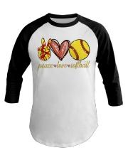 Peace love Softball shirt Baseball Tee thumbnail