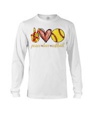 Peace love Softball shirt Long Sleeve Tee thumbnail