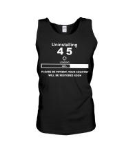 Uninstalling 45 loading please be patient shirt Unisex Tank thumbnail
