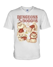 Dungeons and Doggos shirt V-Neck T-Shirt tile
