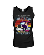 All men are created equal but the best seventies  Unisex Tank thumbnail