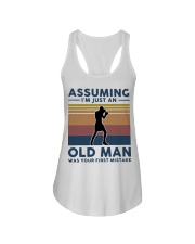 Boxing Assuming Im Just An Old Man Was Your  Ladies Flowy Tank thumbnail