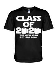Senior Class of 2020 Toilet Paper The year when  V-Neck T-Shirt thumbnail