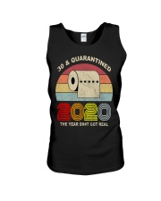 30 and Quarantined 2020 the year shit got real  Unisex Tank thumbnail