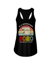 30 and Quarantined 2020 the year shit got real  Ladies Flowy Tank thumbnail