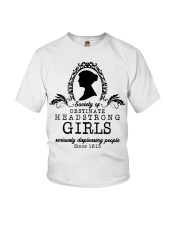 Society of obstinate headstrong girls seriously  Youth T-Shirt thumbnail