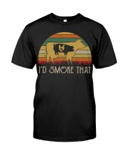 I'd Smoke That Weed vintage shirt Classic T-Shirt front