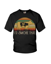I'd Smoke That Weed vintage shirt Youth T-Shirt tile