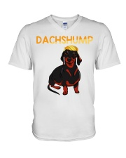 Dachshump Dachshund Trump shirt V-Neck T-Shirt tile