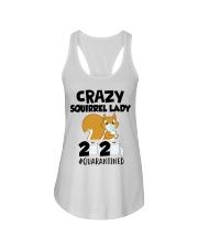 Crazy Squirrel lady 2020 quarantined T-shirt Ladies Flowy Tank thumbnail