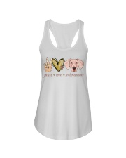 Peace Love Weimaraner shirt Ladies Flowy Tank thumbnail