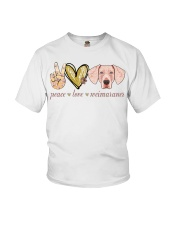 Peace Love Weimaraner shirt Youth T-Shirt thumbnail