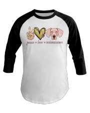 Peace Love Weimaraner shirt Baseball Tee thumbnail