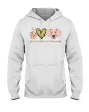 Peace Love Weimaraner shirt Hooded Sweatshirt thumbnail