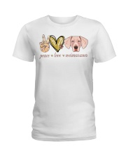 Peace Love Weimaraner shirt Ladies T-Shirt thumbnail