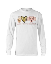 Peace Love Weimaraner shirt Long Sleeve Tee thumbnail