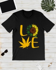 Love Sunflower Weed Cannabis shirt Classic T-Shirt lifestyle-mens-crewneck-front-17