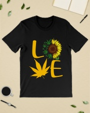 Love Sunflower Weed Cannabis shirt Classic T-Shirt lifestyle-mens-crewneck-front-19