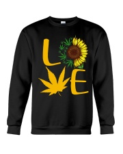 Love Sunflower Weed Cannabis shirt Crewneck Sweatshirt thumbnail