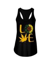 Love Sunflower Weed Cannabis shirt Ladies Flowy Tank thumbnail