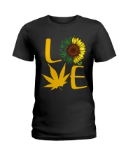 Love Sunflower Weed Cannabis shirt Ladies T-Shirt thumbnail