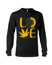 Love Sunflower Weed Cannabis shirt Long Sleeve Tee thumbnail