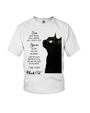 I am your friend your black cat I am your Black  Youth T-Shirt thumbnail