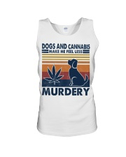 Dogs and Cannabis Make me feel less Murdery  Unisex Tank thumbnail