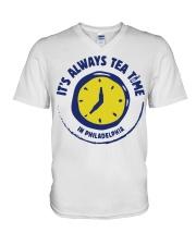 It's always tea time In Philadelphia shirt V-Neck T-Shirt thumbnail